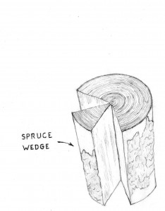 Spruce wedge