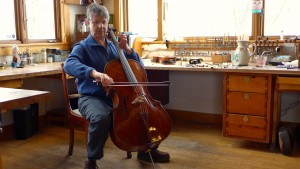 Mike Lipman playing his restored cello